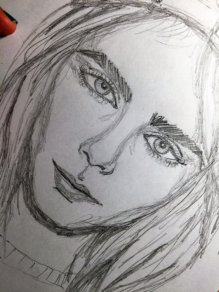 Still drawing faces, and it was Cara Delevingne this time. I saw a tutorial that had her as a model, so I thought I should try drawing her too.