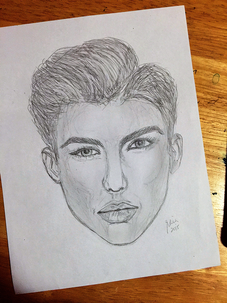 This was the time I started sketching faces. And it was also the time I was marathoning all seasons of Orange is the New Black and had developed a crush on Ruby Rose, because who hasn't?
