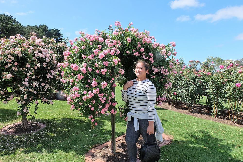 We went to the Victoria State Rose Garden which can easily be one of my favorite places on earth because, duh, flowers!